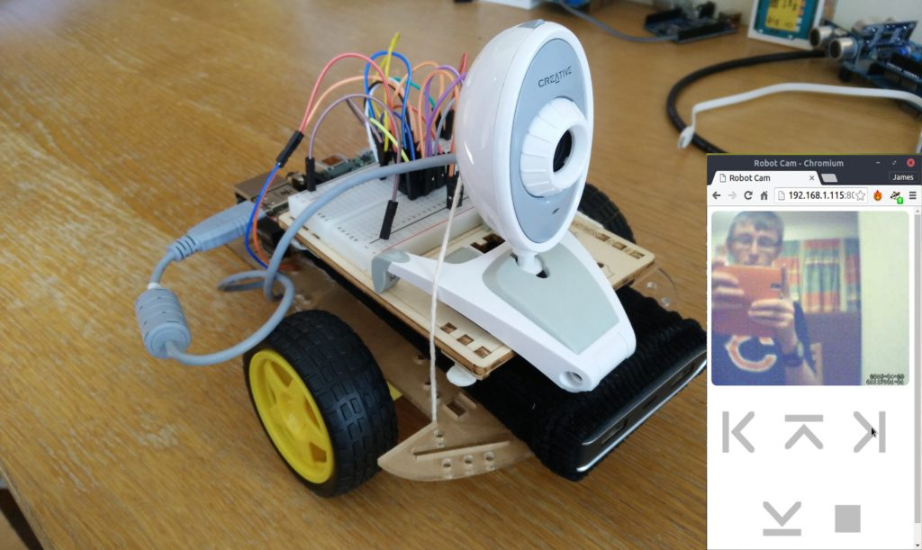 Raspberry Pi Web Controlled Robot With Video Stream