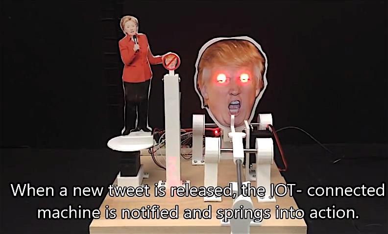 共和党に対して攻撃的なツイートが投稿されるとマシンとIoTが動作します。